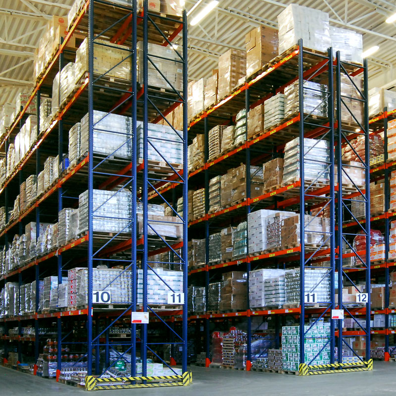 High racking and double deep racking in Australian 3PL warehouse.